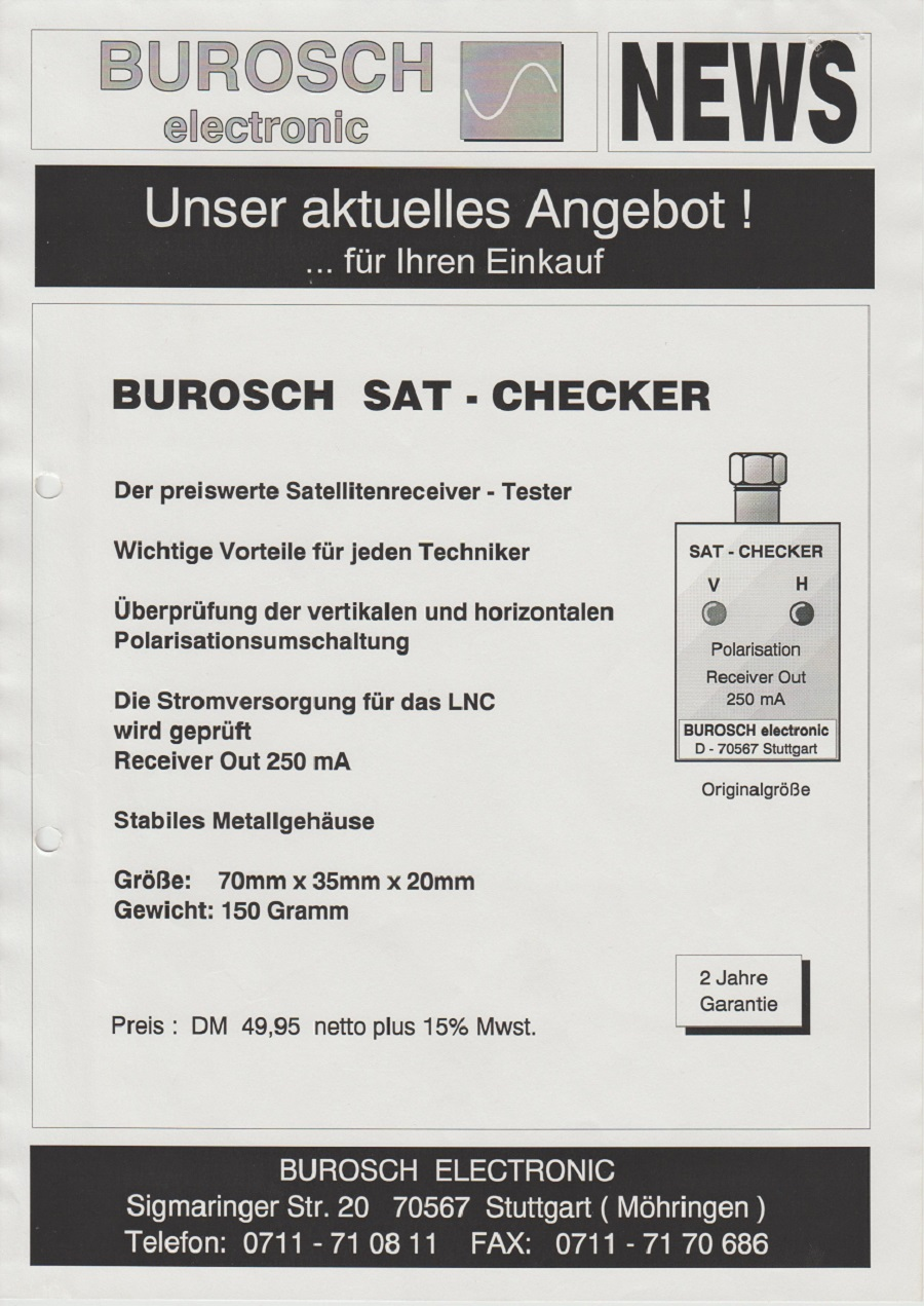 Burosch Sat . Checker