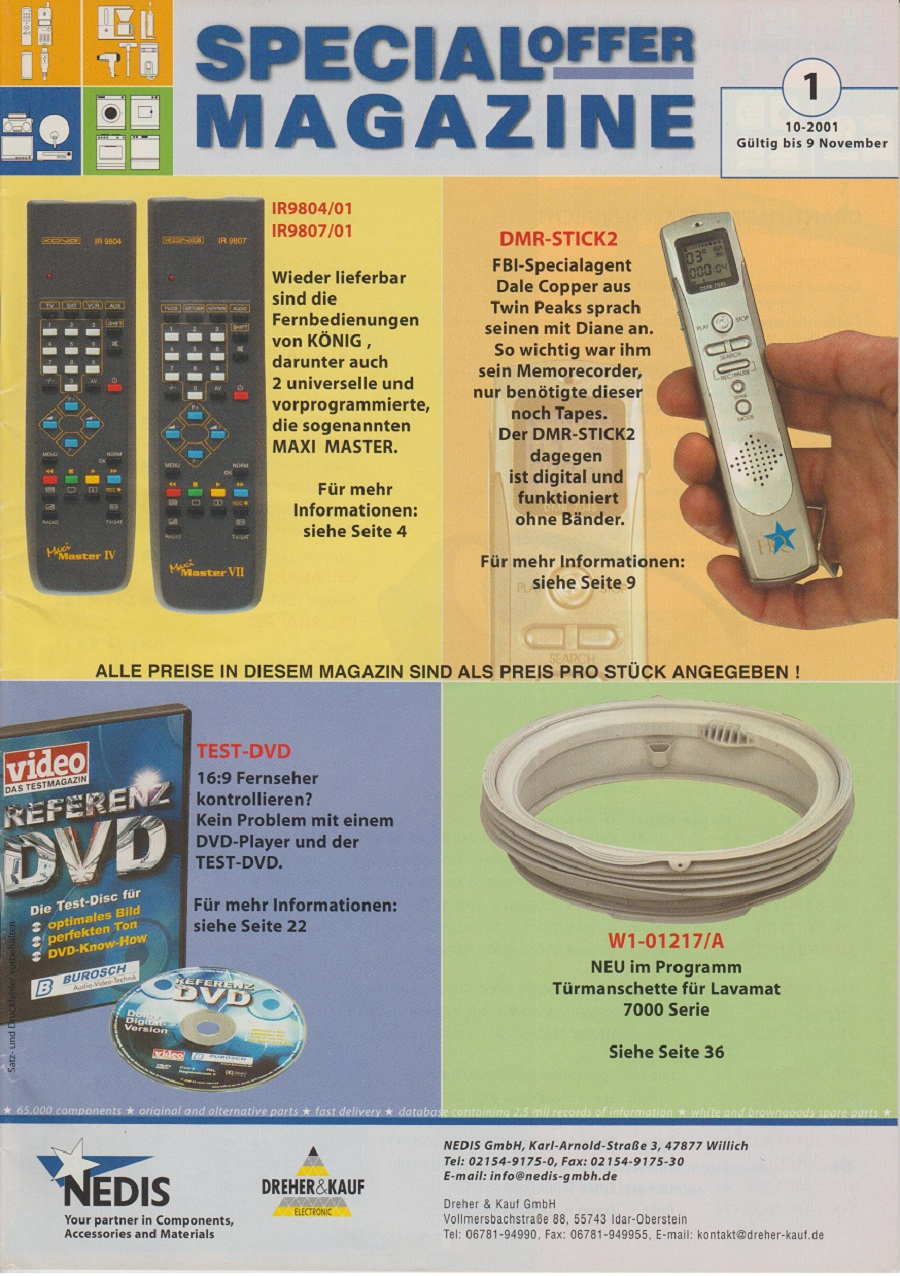 Special offer Magazine 10.2001