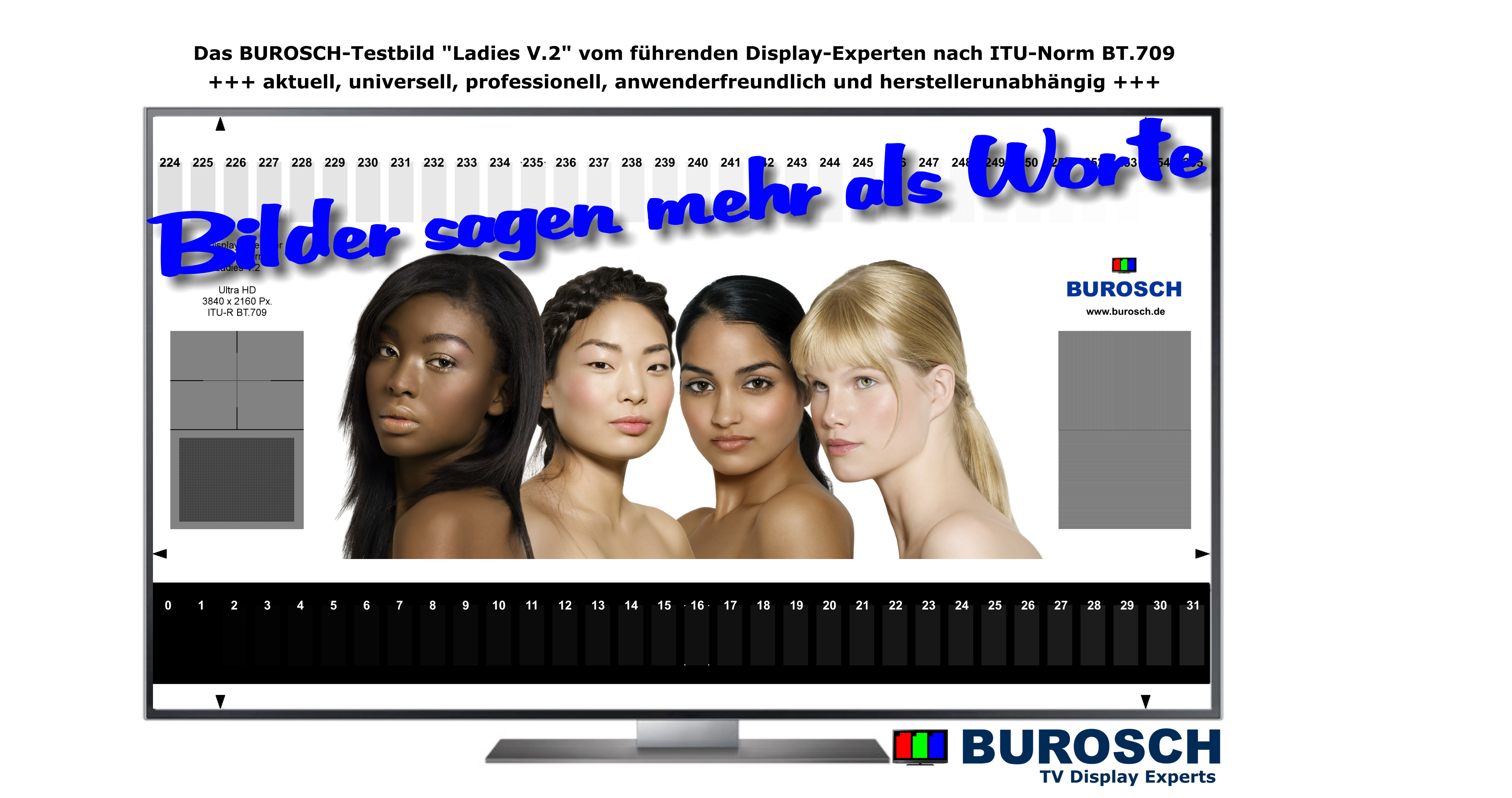 TV Testbild Ladies ITU-Norn BT.709