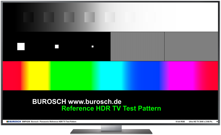 Burosch Reference HDR TV Test Pattern