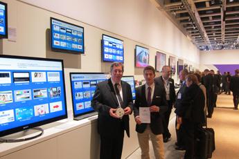 Klaus und Andreas Burosch im Sony Händlerzentrum (IFA 2012)