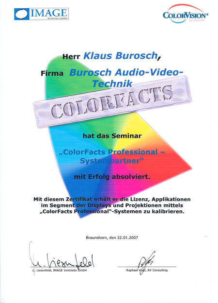 Color Facts Lehrgang