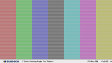 7 Color Viewing Angle Test Pattern