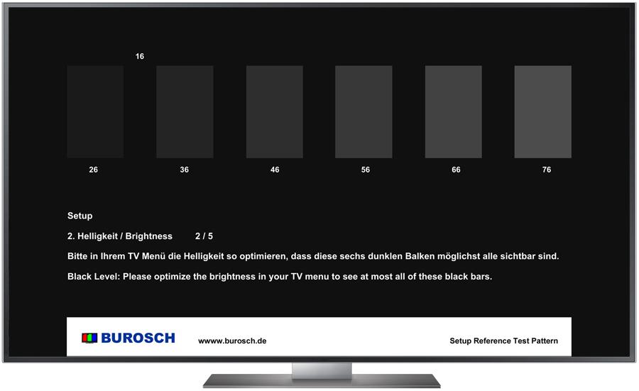Burosch Basic Helligkeit Testbild