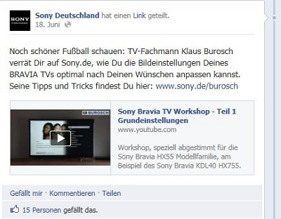 Burosch Sony Facebook Post
