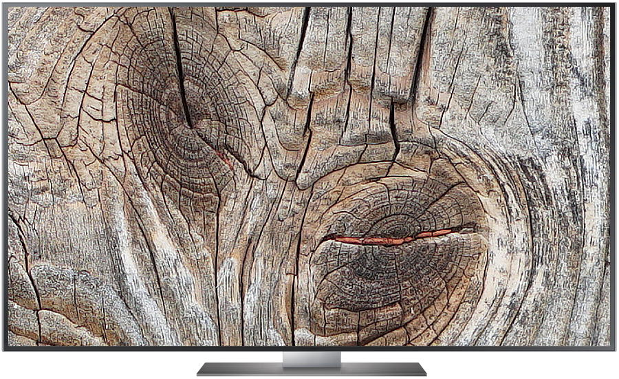 TV Realtestbild Wood nativ