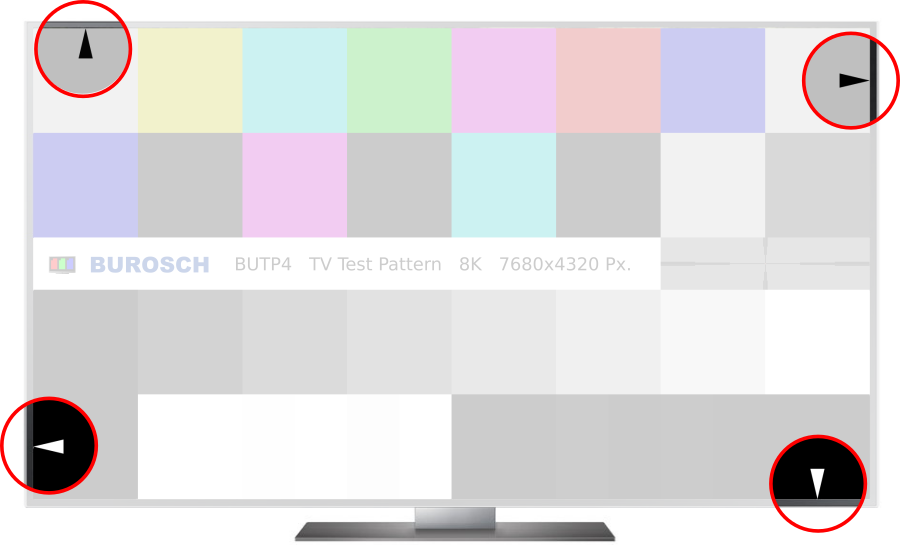 """TV Testbild """"BUTP4"""" für 8K, 4K UHD und Full HD Fernseher"""