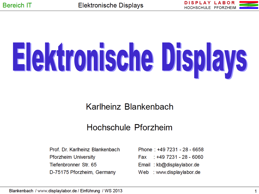 Burosch Blankenbach Lecture Cover