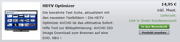 Anleitung Shop Download Und Brennen Des Hdtv Optimizers Mit Nero 11
