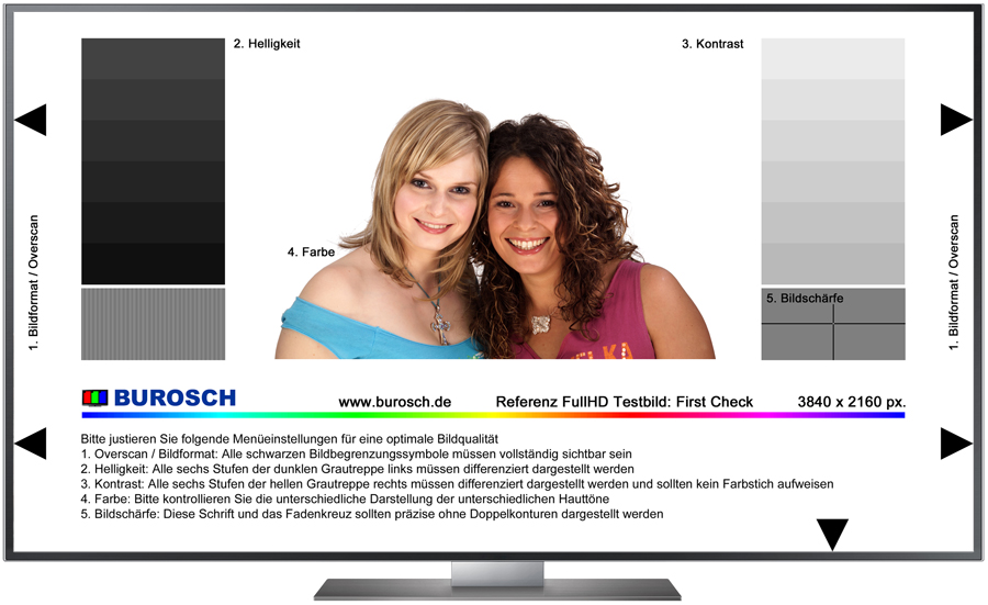 Burosch First Check Referenz TV Testbild