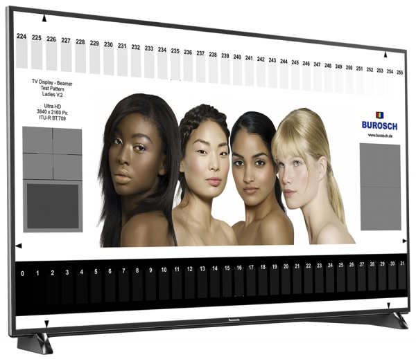 Im BUROSCH-Labor: Panasonic-TV DXW-904/ULTRA HD Premium™